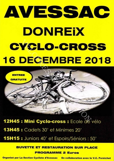 Avessac 16 dcembre 2018 affiche cyclo cross 2 015802800 1425 06122018